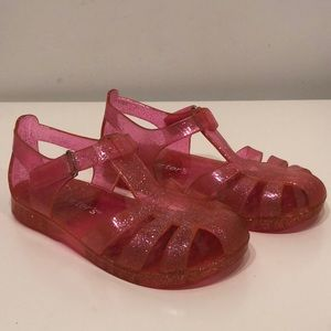 Carter's Pink Sparkle Jelly Sandals Size 11